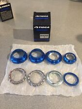"OLD SCHOOL BMX TIOGA BEARTRAP 2 HEADSET BLUE 1"" threaded NEW tange gt"