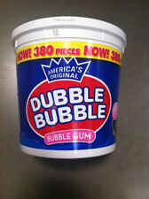 DUBBLE BUBBLE BubbleGum 1 HUGE TUB - 380 Ct ORIGINAL Flavor Chewing Gum FREE SHP