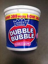 DUBBLE BUBBLE BubbleGum 1 HUGE TUB - 380 Ct ORIGINAL Flavor Chewing Gum FREE SHP