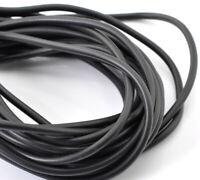 (1,99€/1m) Gummi Schmuckband schwarz - 1 Meter - Ø 4 mm - Schmuckband zum bastel