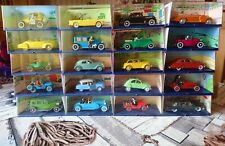 Lot de 20 voitures Tintin 1/43 Collection Atlas