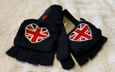NEW ENGLAND DESIGN FINGERLESS GLOVES / MITTENS - CONVERTIBLE