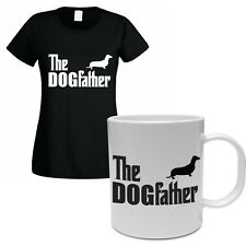 THE DOGFATHER - Dachshund / Sausage / Dog / Funny Women's T-Shirt and Mug Set