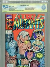 1990 MARVEL NEW MUTANTS #87 1ST APP CABLE CBCS 9.2 SIGNED ROB LIEFELD CGC IT BX1