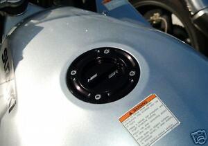 Suzuki Bandit TL1000R TL1000S V-Strom 650 1000 Black Gas Fuel Cap CNC Billet