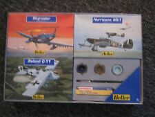 Rare Heller Collection Kit COMPLETE 3 Plane Models w/ paint & brush