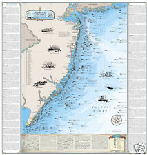 Nautical Art Print Map Laminated Original Chesapeake Bay Chart