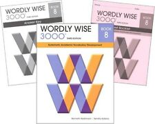 Wordly Wise 3000 Grade 8 SET -- Student, Key and Tests NEW  *3rd edition*
