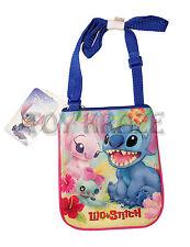 "LILO AND STITCH SLING BAG! PINK & BLUE SATCHEL GIRLS CROSSBODY PURSE 8"" NWT"