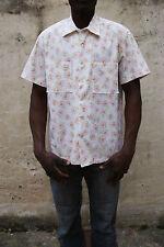 Supongo que Mens Casual camiseta manga corta de algodón Flores Blancas Xl Extra Grande