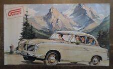 GOLIATH 1956 Large Format German Mkt Sales Brochure - Cabriolet Limousine Wagen