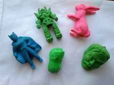 Vintage1970's- 1980s Erasers Rubbers  Pencil Toppers inc Batman Transformers