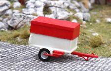 Saller-Modèles 1/87: A8737 Remorque pour Petite voiture, crème-blanc/rouge