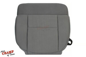 2007-2008 Ford F-150 XLT - Driver Side Bottom Replacement Cloth Seat Cover Gray