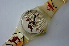 Quartz Armbanduhr CAMEL Zigaretten Reklame Werbung * Deutschland um 1980 perfekt