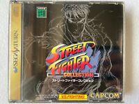 Street Fighter Collection Sega Saturn Capcom Japan retro video game action FedEx