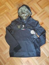 100% Authentic Nike  Oakland Raiders Salute To Service Hoodie Youth M tag New!
