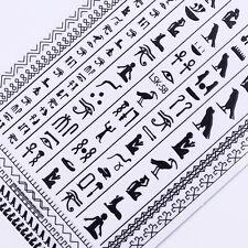 Egypt Totem Ultra-thin 3D Nail Sticker Black Symbol Adhesive Tattoo Decal