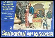 CINEMA-fotobusta SANDOKAN ALLA RISCOSSA r. danton,petri