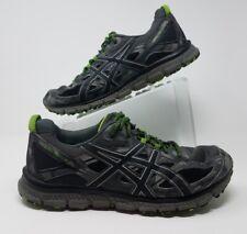 ASICS Gel-Scram 3 Men Sz 10.5 Carbon Black Green Gecko Trail Running Shoes