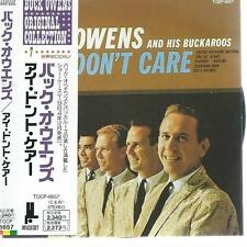 CD album BUCK OWENS and his BUCKAROOS - I DON'T CARE  / JAPANESE IMPORT CD OBI