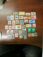 Lot of 39! 1940s 1950s Vintage China stamps Formosa Restoration Map of Shanghai