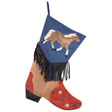 Boys Horse Boot Christmas Stocking