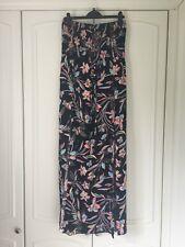 BNWOT M&S ladies black floral elasticated beach dress with halterneck size 22
