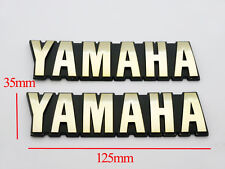 Set Petrol Oil Tank Emblems Decals Gold for Yamaha Motorcycle Models 3D ABS