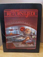 Vintage Return of the Jedi 2 Pocket School Folder~1983~Jabba The Hut Graphics~VG