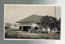 1936 Batavia Netherlands Indies RPPC postcard Cover to CAnada Zeemanshuis