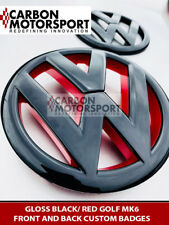 VW golf MK6 black and red front grille rear badge emblem 2009-2012 GTI TDI TSI