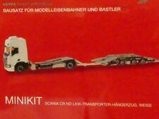 1/87 Herpa Minikit Scania CR20 ND LKW-Transporter HZ weiß 013628