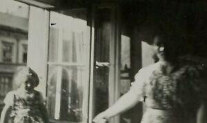 Vintage Snapshot Photo Creepy Paranormal Woman And Kid  1