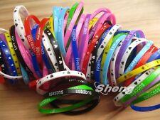 50x Mix Lot Sport & Friendship Love Color Silicone Wristbands Bracelets