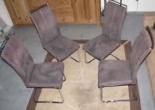 4 Stück Freischwinger Schwingstuhl Esszimmerstuhl Sitzgruppe Hochlehner Stühle