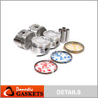 Pistons and Rings fit 88-92 Geo Prizm Toyota Corolla Celica 1.6 4AFE DOHC