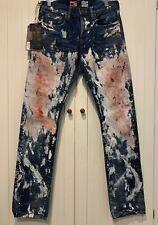 PRPS Noir Jeans Demon Painted in Med Wash Denim, 30