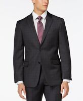 Tommy Hilfiger Charcoal Windowpane Modern-Fit Suit 7608 Size 36R  W38xL30