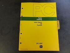 John Deere 59 Forklift Parts Catalog  PC-1597