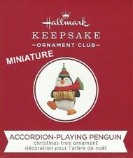 Hallmark 2020 Accordion-Playing Penguin Miniature Ornament Club Exclusive