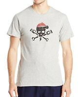 Lucky Brand - Mens M - NWT - Gray Gear Head Skull Cotton Crew-Neck T-Shirt