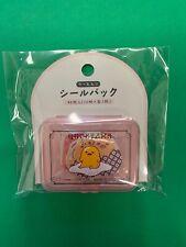 Sanrio Japan: Gudetama Stickers With Plastic Pink Case (A4)