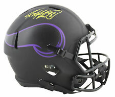 Vikings Adrian Peterson Signed Eclipse Full Size Speed Rep Helmet BAS Witnessed