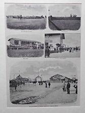 Rennverein München-Riem. Rennplatz und Sportanlagen - Stich um 1898