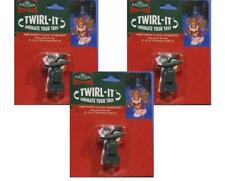 Kurt Adler Twirl-It Motor Pigtail Christmas Tree Ball Ornament Spinners-Set of 3