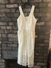 Rochelle Humes Cream Lace Dress Size 10-12. New With Tags!