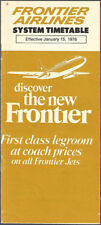 Frontier Airlines system timetable 1/15/76 [7125]