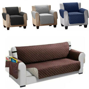 Sofa Cover Armchair Mat Protector Sofa Slipcover Couch Cover with Elastic Straps