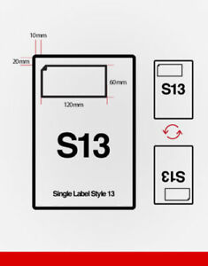 INTEGRATED SHIPPING LABELS - A4 POST PACK ADDRESS LABEL - S13 -1000